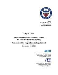 Addendum No. 1 Update with Supplement - City of Akron, Ohio