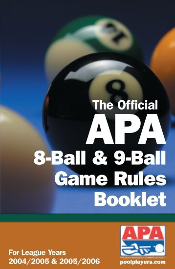 8 and 9-BALL RULES - lone star grill - richardson, texas