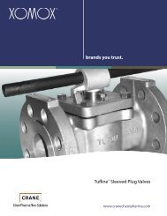 Xomox Tufline Sleeved Plug Valves