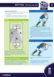 Teacher Task Cards - Batting - Striking the Ball - Cricket America