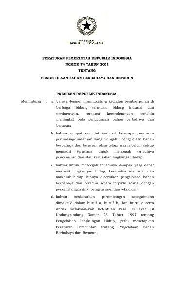 peraturan pemerintah republik indonesia nomor 74 tahun ... - djmbp