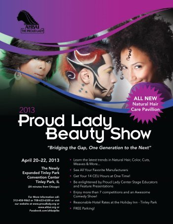 2013 Proud Lady Beauty Show Flyer - Ahbai