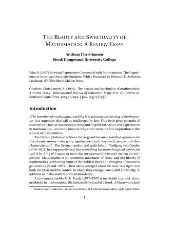 Essay on beauty
