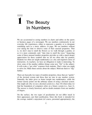 Chapter 1. The Beauty in Numbers - ASCD