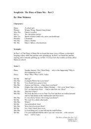 Songbirds: The Diary of Dana Ma : Part 3 By: Dino Mahoney