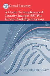 A Guide To Supplemental Security Income (SSI ... - Social Security