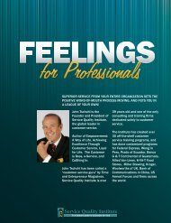 Feelings For Professionals Brochure - Service Quality Institute