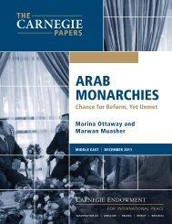 Arab Monarchies: Chance for Reform, Yet Unmet - Carnegie ...