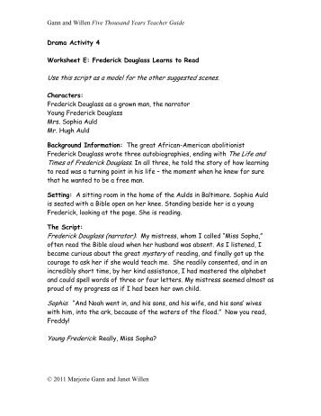 Worksheet E - Tundra Books