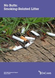 No Butts: Smoking-Related Litter - Keep Britain Tidy