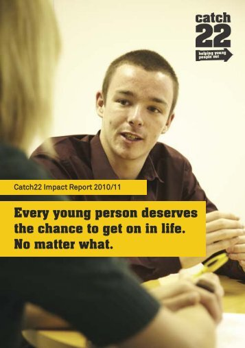 Every young person deserves the chance to get on in life. No matter ...