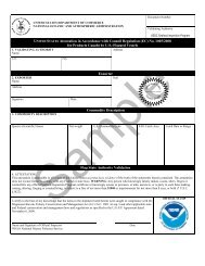 Catch Certificate - Seafood Inspection Program - NOAA