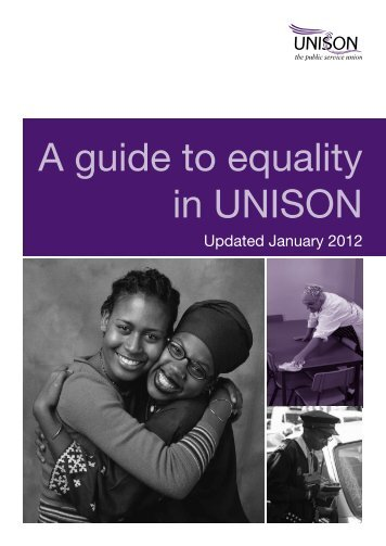 A guide to equality in UNISON