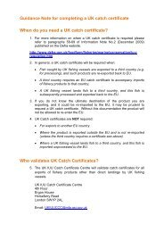 Guidance Note for completing a UK catch certificate - ARCHIVE: Defra