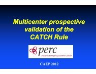 Multicenter Prospective Validation of the Canadian Assessment of
