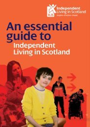 A Guide to Independent Living in Scotland - Volunteer Centre Moray