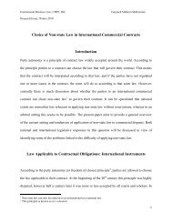 Choice of Non-state Law in International Commercial Contracts ...