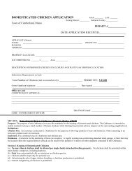 Domestic Chicken Application - Town of Cumberland