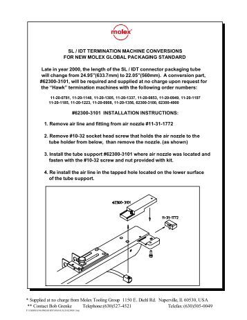 molex crimp tool instructions