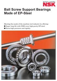 Ball Screw Support Bearings made of EP Steel - NSK Americas
