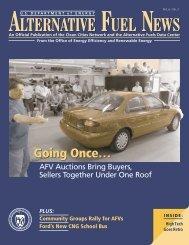 Alternative Fuel News Vol. 6- No. 1, Part 1 pages 1-8 - EERE - U.S. ...