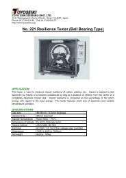 No. 221 Resilience Tester (Ball Bearing Type) - Top page of Xebex ...