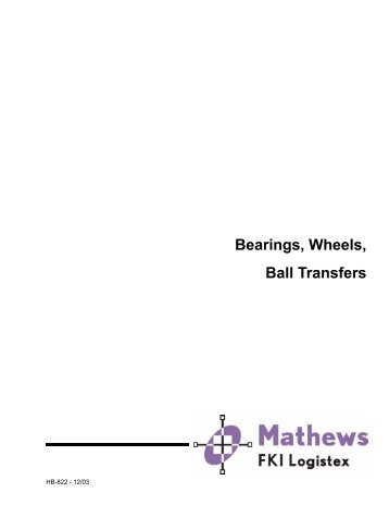 Bearings, Wheels, Ball Transfers - Newell Equipment Company