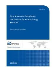 New Alternative Compliance Mechanisms for a Clean Energy ...