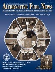 Alternative Fuel News Vol.1 - No.1 - EERE - U.S. Department of ...