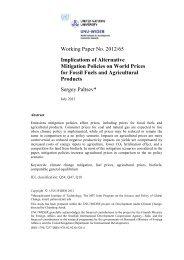 UNU-WIDER Working Paper No. 2012/65 Implications of alternative ...