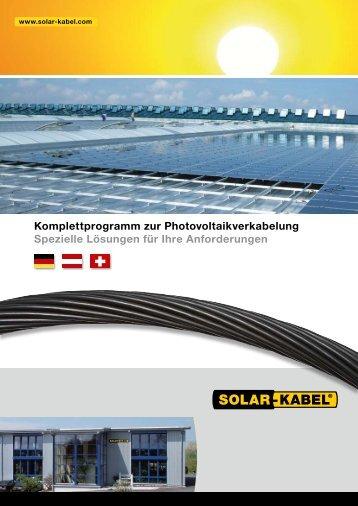 Solar-Kabel Broschüre 2011