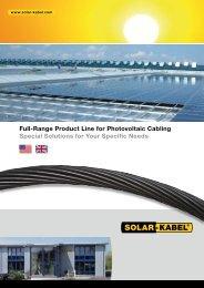 Cable Assemblies Versatile and Customized - Solar-Kabel