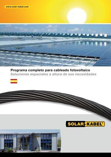 Programa completo para cableado fotovoltaico ... - Solar-Kabel