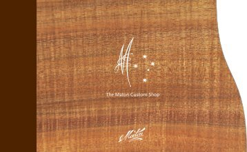 download the maton custom shop brochure - Maton Guitars