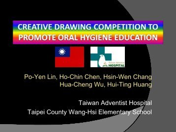 Creative Drawing Competition to Promote Oral ... - HPH-Conference