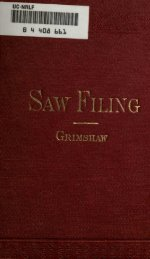 Saw Filing and Management of Saws by Robert - Evenfall Studios