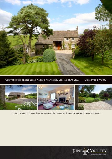 Galley Hill Farm | Lodge Lane | Melling | Near ... - Fine & Country