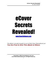 eCover Secrets Revealed - Merle's World