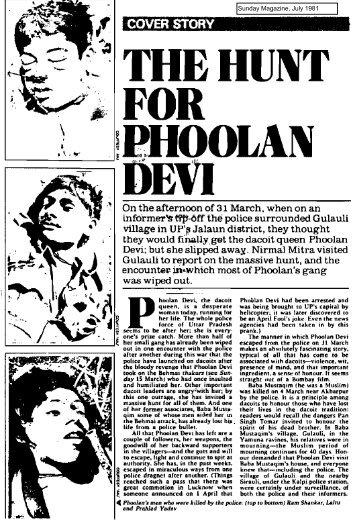 Breaking news: The hunt for Phoolan Devi - Nirmal Mitra's website