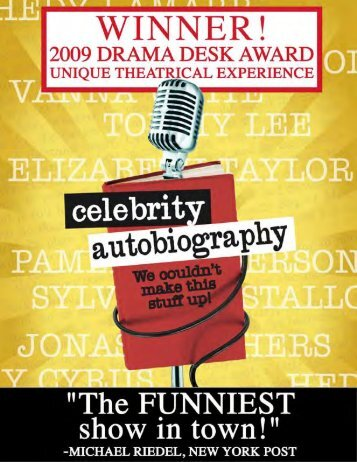 What is Celebrity Autobiography? - Off Broadway Booking