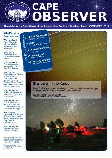 Cape Observer September 2010.FH11 - the Cape Centre