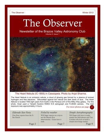 The Observer - Brazos Valley Astronomy Club