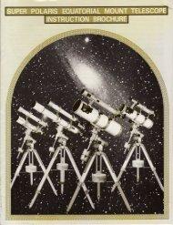 1980s Vixen, Super Polaris Mount and Telescope Manual