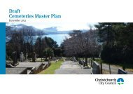Cemeteries Masterplan.indd - Christchurch City Council