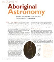 In search of Aboriginal Astronomy - Australia Telescope National ...