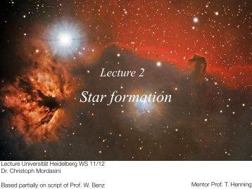 L2 Star formation Part I