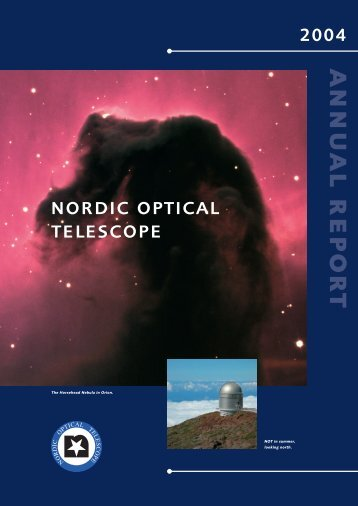 NOT Annual Report 2004 (PDF) - Nordic Optical Telescope