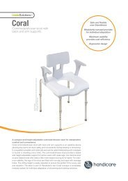 Commode/shower stool with back and arm supports - Handicare