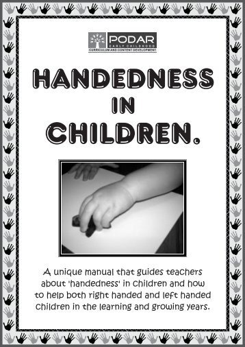 Handedness in Children revised - Podar Institute of Education