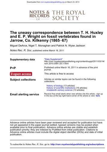 Jarrow, Co. Kilkenny - Notes and Records of the Royal Society